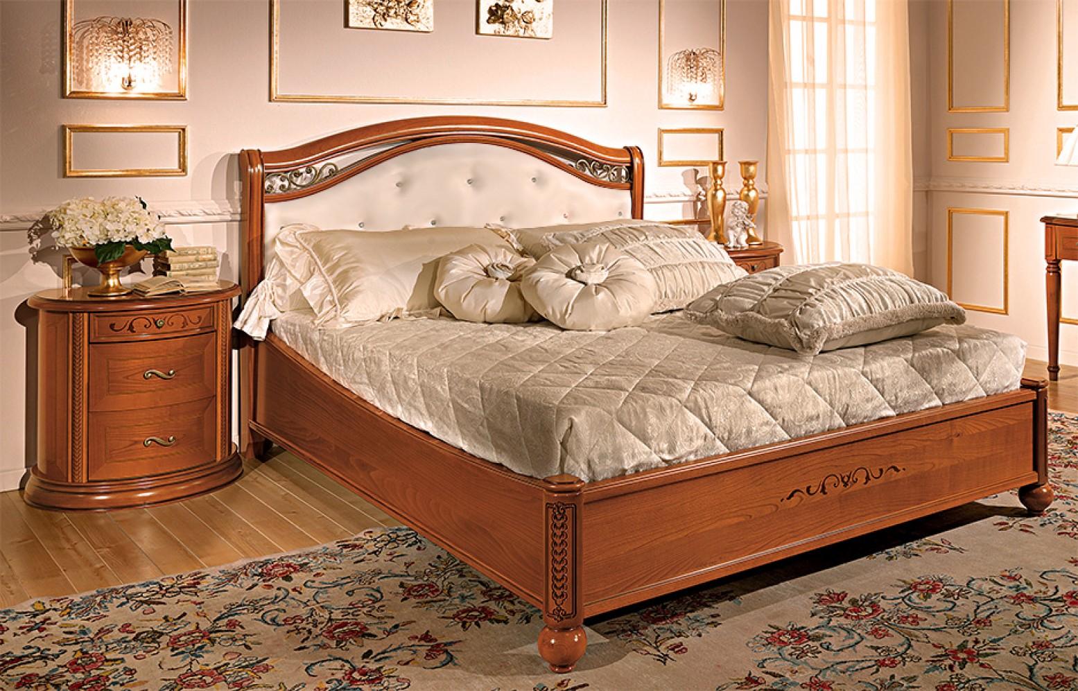 Siena Pelle Euro King Size Bedroom Set W Platform Walnut Buy