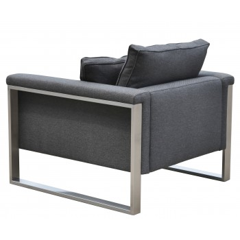 Boston Armchair, Black Pepper Fabric by SohoConcept Furniture