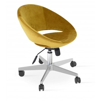 Crescent Office Chair, Base A2, Gold Velvet by SohoConcept Furniture