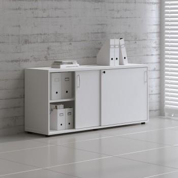 Sliding Doors Storage Unit A2P08, White