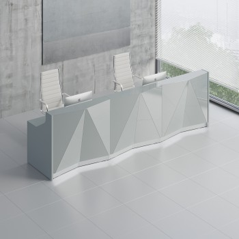 Alpa ALP07 Reception Desk, Aluminum