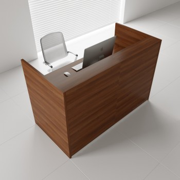 Tera TRA117 Reception Desk, Lowland Nut