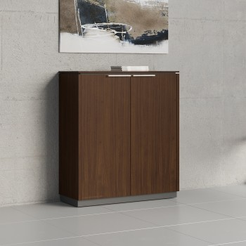Status 2 Door Storage Cabinet X31, Chestnut