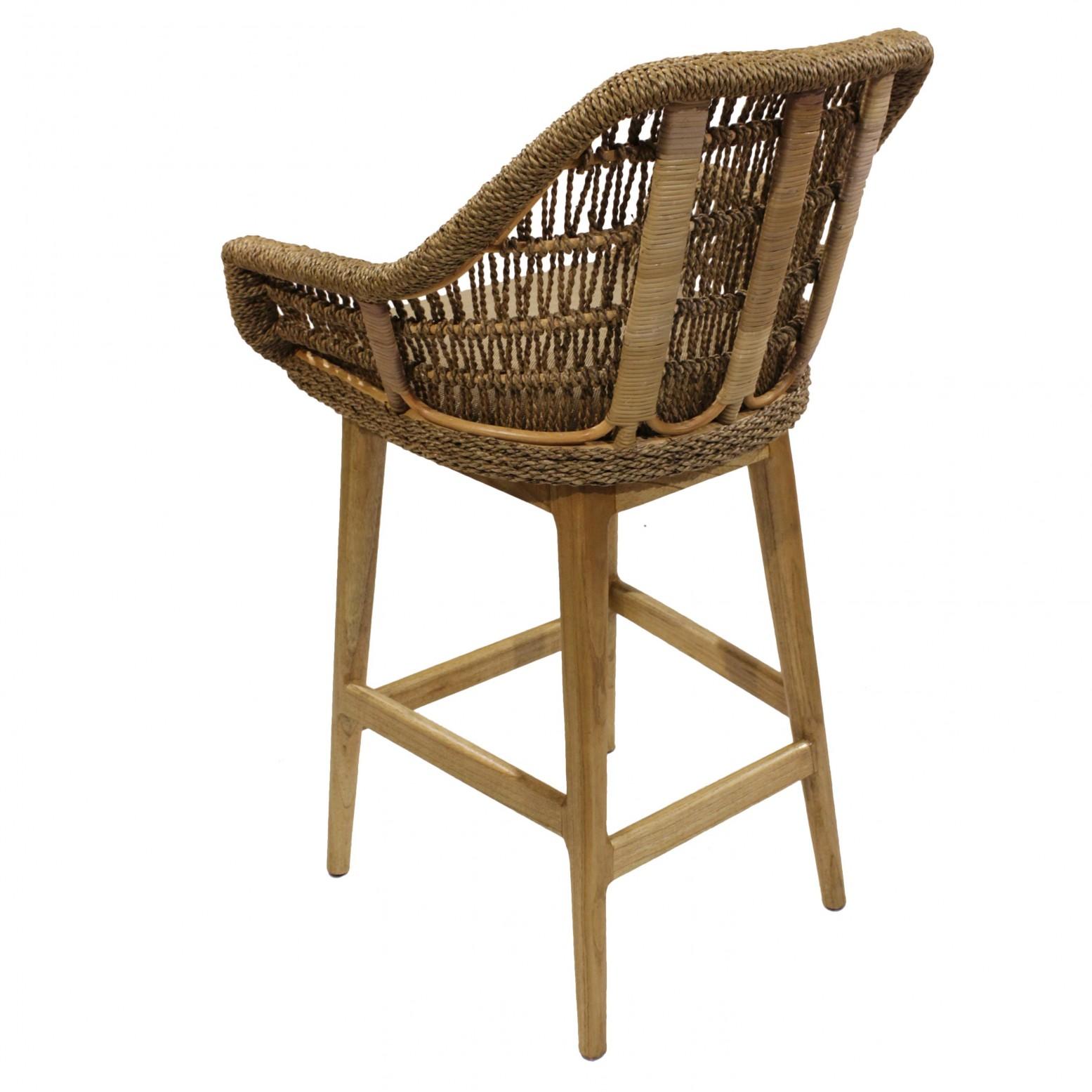 Surprising Leia Kd Rattan Bar Stool Natural Inzonedesignstudio Interior Chair Design Inzonedesignstudiocom