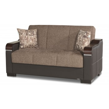 Uptown Loveseat, Brown Fabric by Casamode