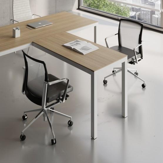 Impuls Desk Extension IM07, White Pastel + Canadian Oak photo