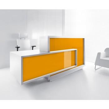 FORO LF11 Reception Desk, High Gloss Orange