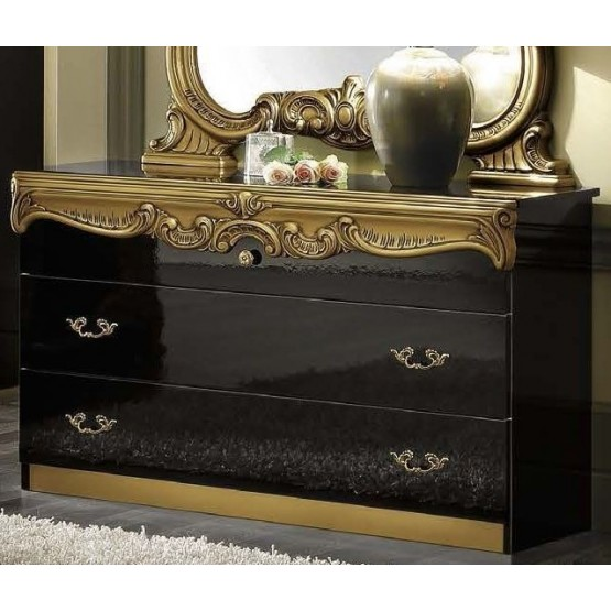Barocco Single Dresser, Black + Gold photo