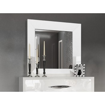 Carmen Small Mirror, White