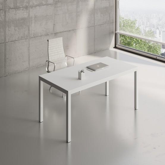 Impuls Desk IM04, All White Pastel photo