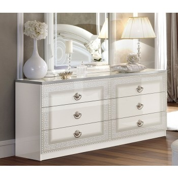Aida Double Dresser, White