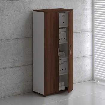 Basic K5104 Shelving Storage, White + Lowland Nut