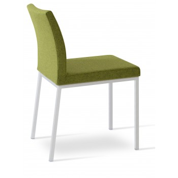 Aria Dininng Chair, Chrome Base, Forest Green Camira Wool by SohoConcept Furniture