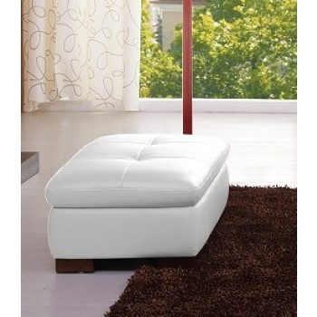 625 Italian Leather Ottoman, White by J&M Furniture