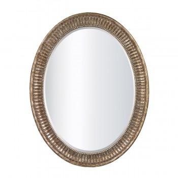 Franklin Oval Mirror In Bronze