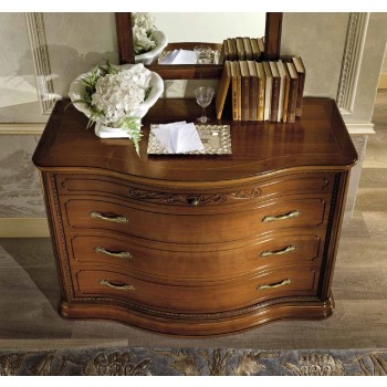 Torriani Vip Single Dresser, Walnut
