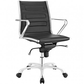 Ascend Mid Back Office Chair, Black by Modway