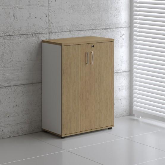 Basic K3104 2-Door Storage, White + Canadian Oak photo