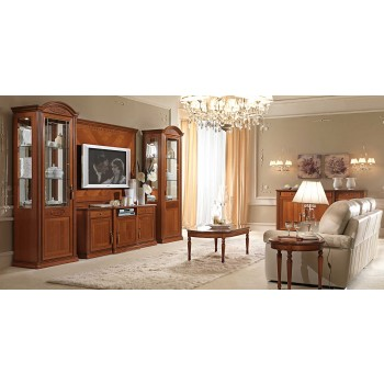 Siena 4-Piece Entertainment Set w/Maxi TV Cabinet + Plasma TV Wall Panel, Walnut