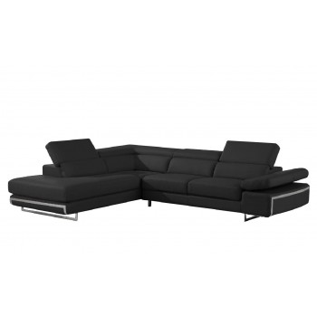 Bart Sectional, Left Arm Chaise Facing, Black