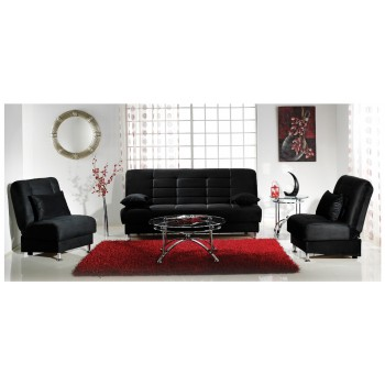 Vegas 2-Piece Living Room Set, Rainbow Black