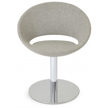 Crescent Round Swivel Chair, Archway Camira Wool by SohoConcept Furniture