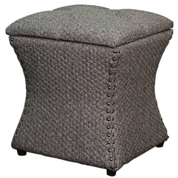Amelia Nailhead Ottoman, Grey Honeycomb by NPD (New Pacific Direct)
