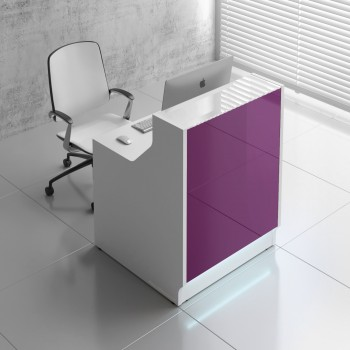 Linea LIN08 Reception Desk, Fuchsia
