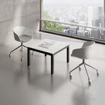 Impuls Small Table IM57, Black + White Pastel