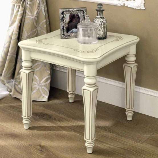 Torriani Lamp Table, Ivory photo