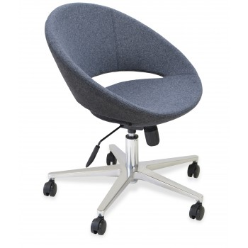 Crescent Office Chair, Base A1, Dark Grey Wool by SohoConcept Furniture