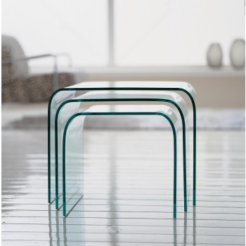 Anemone Nesting Tables, Clear Transparent