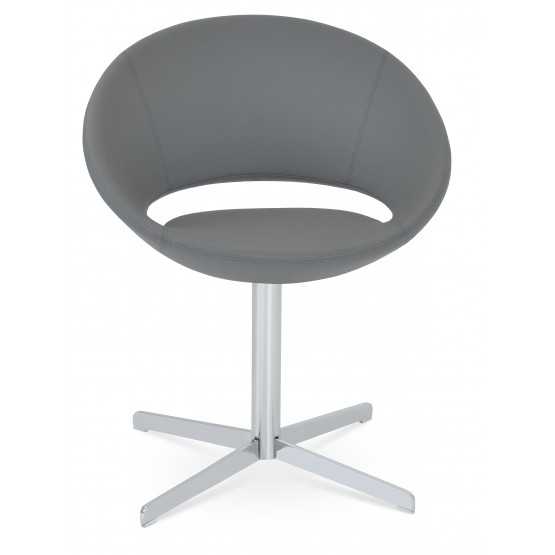 Crescent 4 Star Swivel Chair, Grey PPM, Large Seat photo