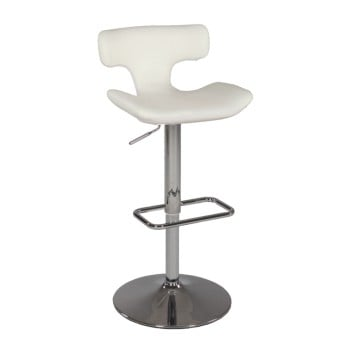 0623 Pneumatic Gas Lift Swivel Stool, White by Chintaly Imports