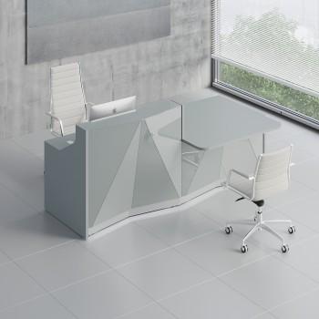 Alpa ALP21L Reception Desk, Aluminum