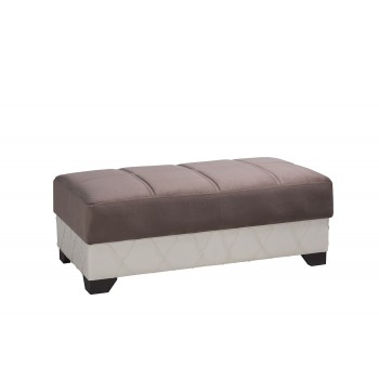 Molina Sectional Ottoman, Lyon Brown by Casamode