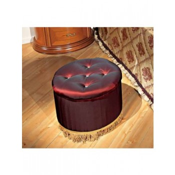 Siena Pouf, Red Fabric