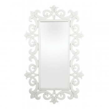 Haylee Glass Scroll Work Framed Mirror