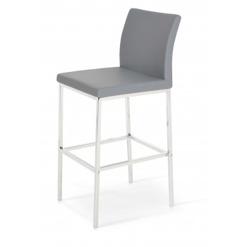 Aria Chrome Counter Stool, Grey PPM by SohoConcept Furniture