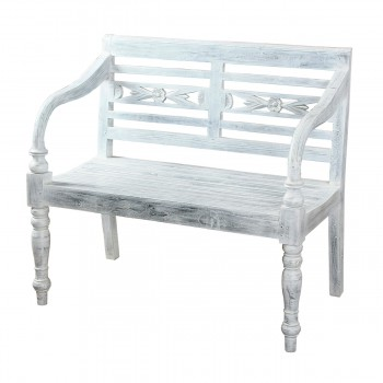 Folger Bench In Grey Painted Finish