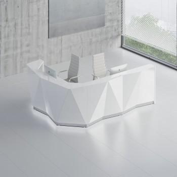 Alpa ALP17L Reception Desk, White