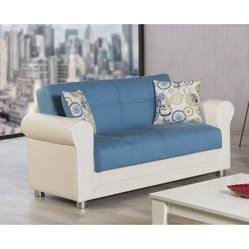 Avalon Loveseat, Prusa Blue by Casamode